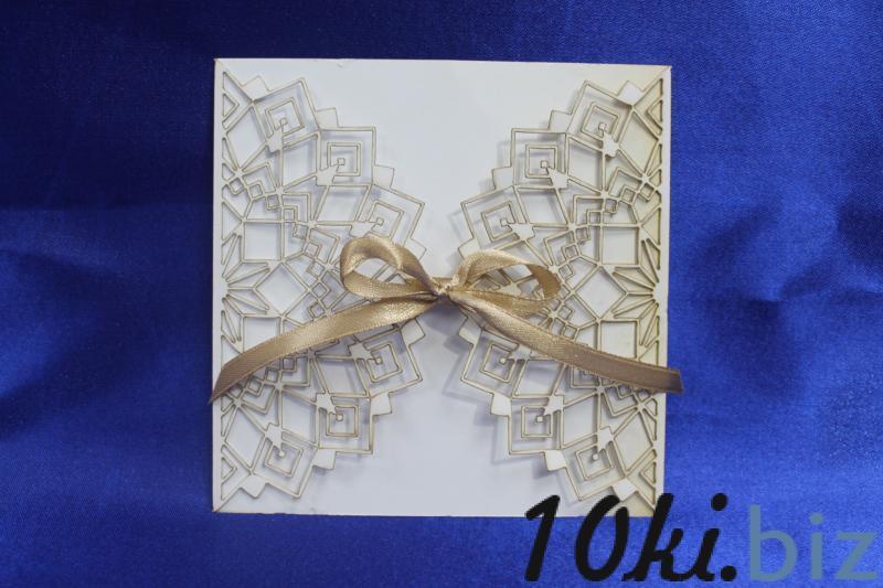 Обложка на пригласительное для ручной работы. Картон, цвет айвори, арт. 065-005 Свадебные приглашения и рассадочные карточки в России