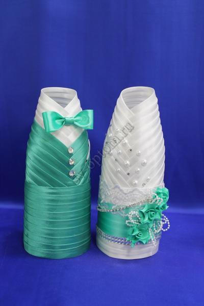 Одежда для шампанского бело-тиффани  арт.047-011