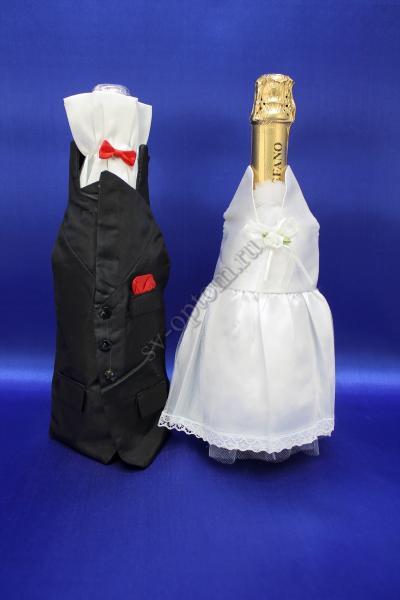 Одежда для шампанскогобело-красная арт.047-033