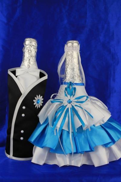 Одежда на шампанское бирюза,арт.047-055