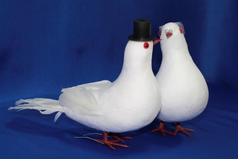 Пара голубей (ширина-180 мм, высота-180 мм) арт. 129-084