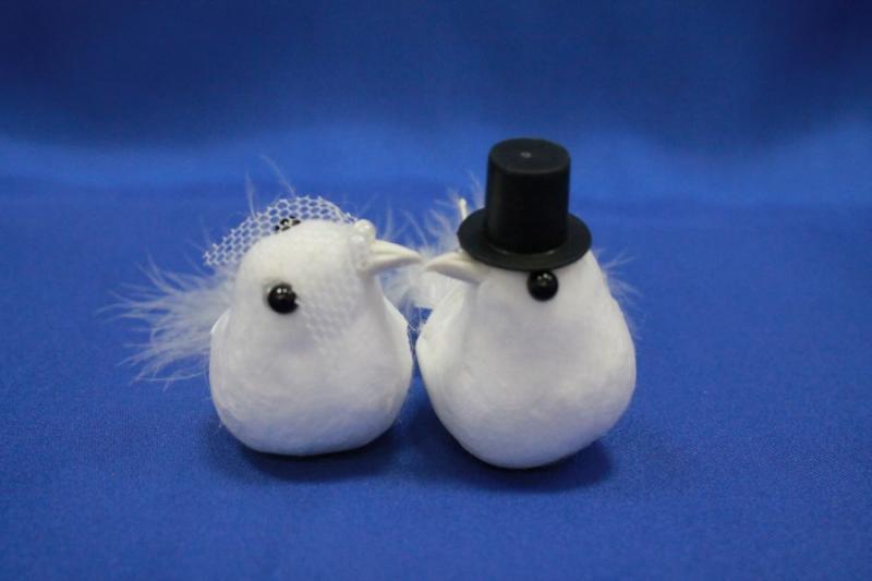 Пара голубей маленькие (ширина-80 мм, высота-60 мм) арт. 129-083