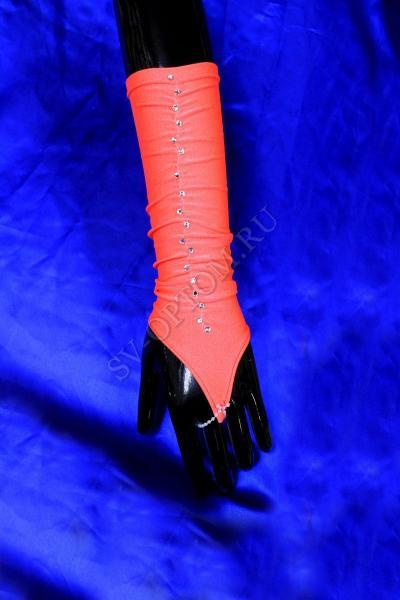 Перчатки детские. Цвет: ярко-оранжевый. арт. 026-027