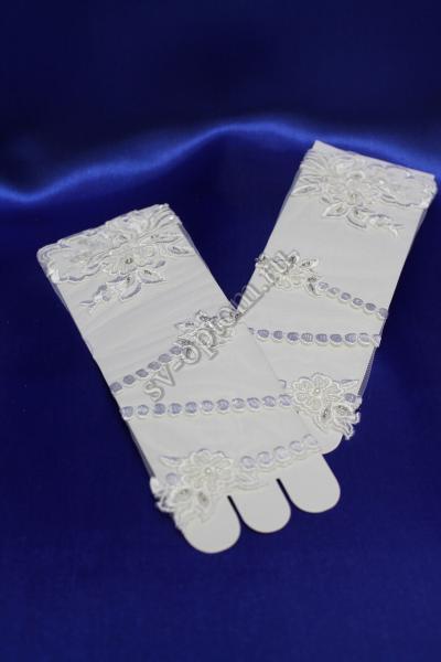 Перчатки Цвет: Белый. арт.024-123