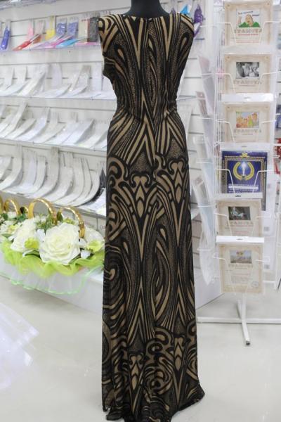 Платье вечернее Вид сзади Размеры 44,46 арт. 012-016