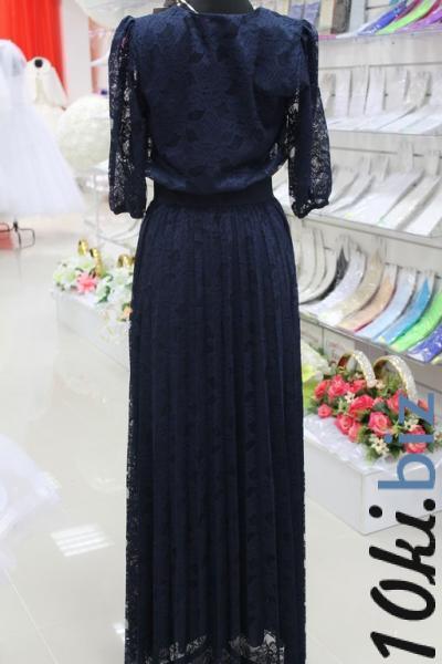 Платье вечернее Вид сзади Цвет:синий. Размеры 38,40,42. арт. 012-018 Вечерние платья в России