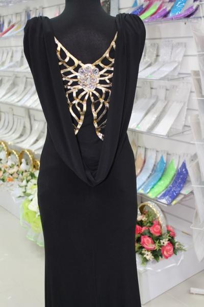 Платье вечернее Вид сзади Цвет:черный. Размеры 38,40,42. арт. 012-020