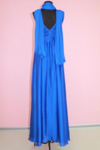 Платье вечернее вид сзади Цвета: синий размеры S,L; золото M,XL; фиолет S,L; розовый M,XL арт. 012-013