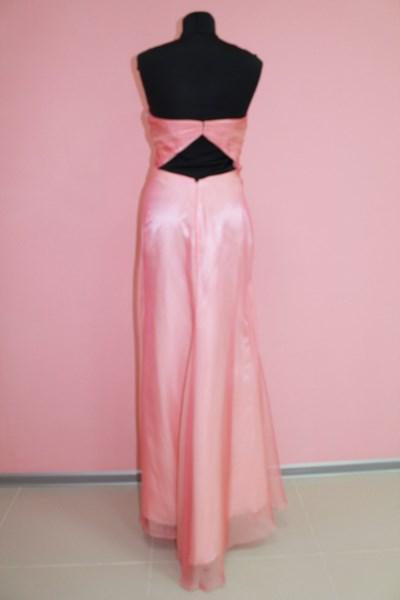 Платье вечернее Цвет: персик Размеры S,M (вид сзади) арт. 012-004