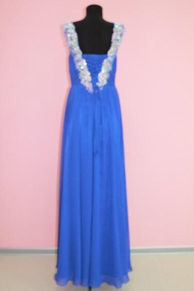 Платье вечернее Цвет: синий Размеры M,XL (вид сзади) арт. 012-011
