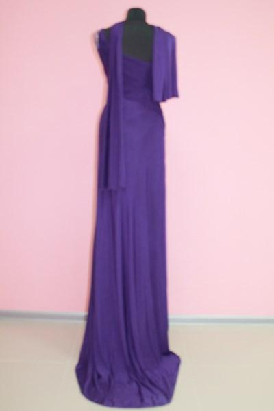 Платье вечернее Цвет: фиолет Размеры М,XL (вид сзади) арт. 012-009