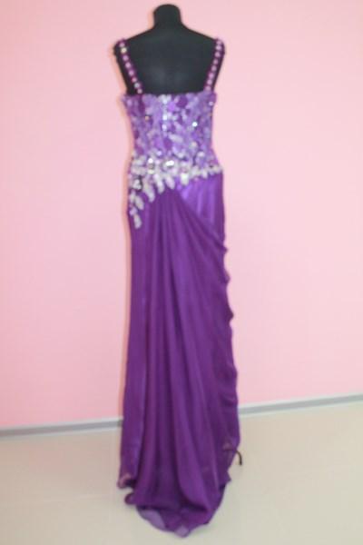 Платье вечернее Цвет: фиолет Размеры M,XL (вид сзади) арт. 012-012