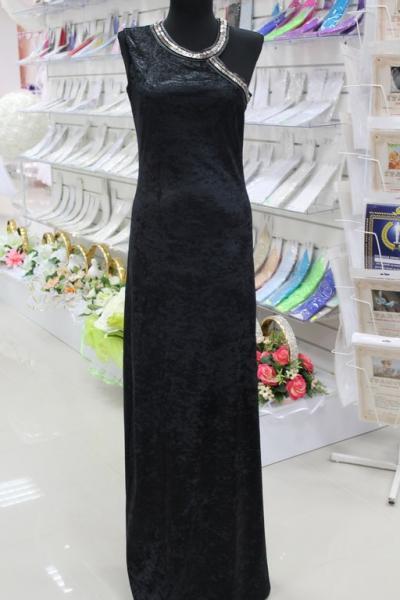 Платье вечернее Цвет:черный. Размеры 36,38,40,42. арт. 012-019