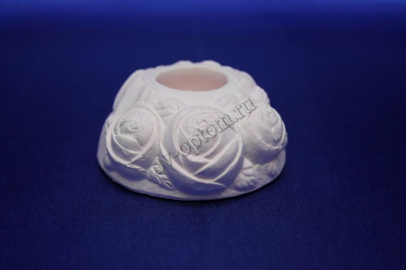"""Подсвечник """"Роза """", розовый для родительских свечей, 063-004"""