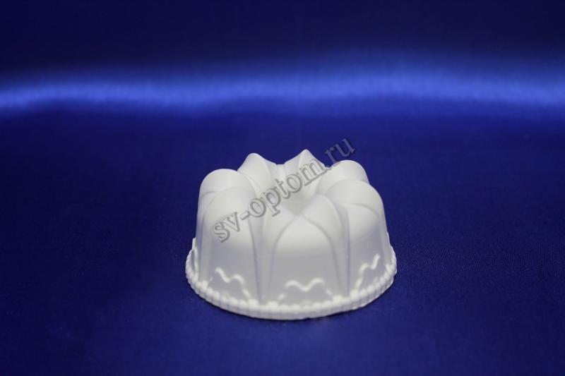 Подсвечник гипсовый, белый, для родительских свечей (3,5x7.5см.)  арт 063-007