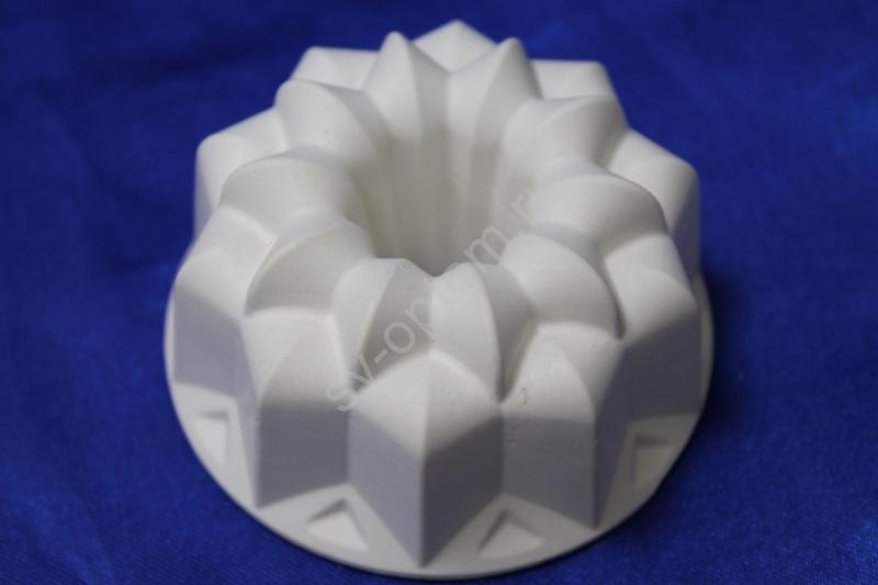 Подсвечник гипсовый, белый, для родительских свечей.   арт.063-025