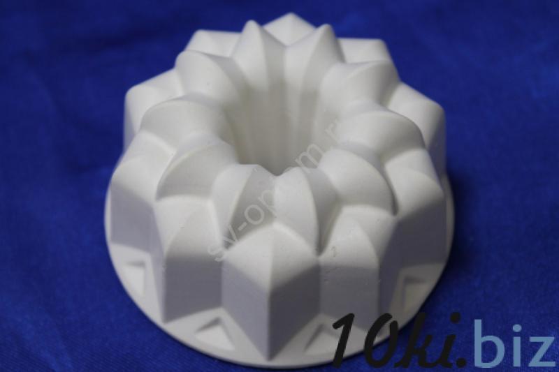Подсвечник гипсовый, белый, для родительских свечей.   арт.063-025 Свечи и подсвечники в России