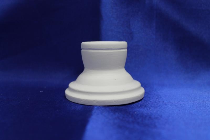 Подсвечник гипсовый, белый, для родительских свечей.  арт.063-016
