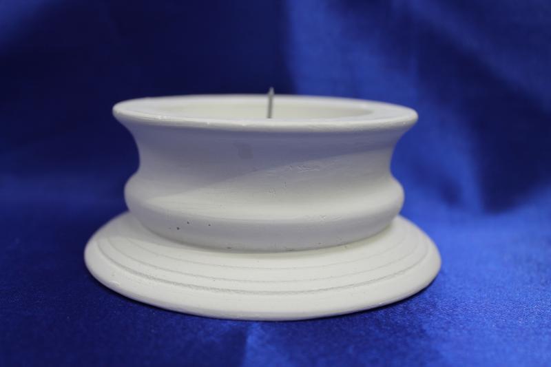 Подсвечник гипсовый, белый, под семейный очаг.  арт.063-017