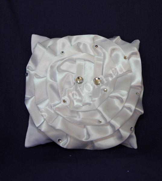 Подушка для колец атласная Цвет: Белый арт. 117-096
