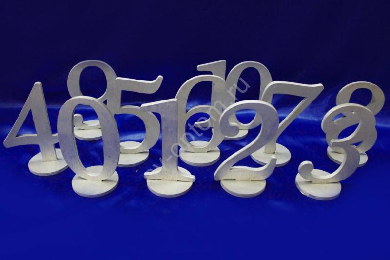 Расcадочные номера на 11 столов. Дерево. Цвет: серебро арт. 008-008