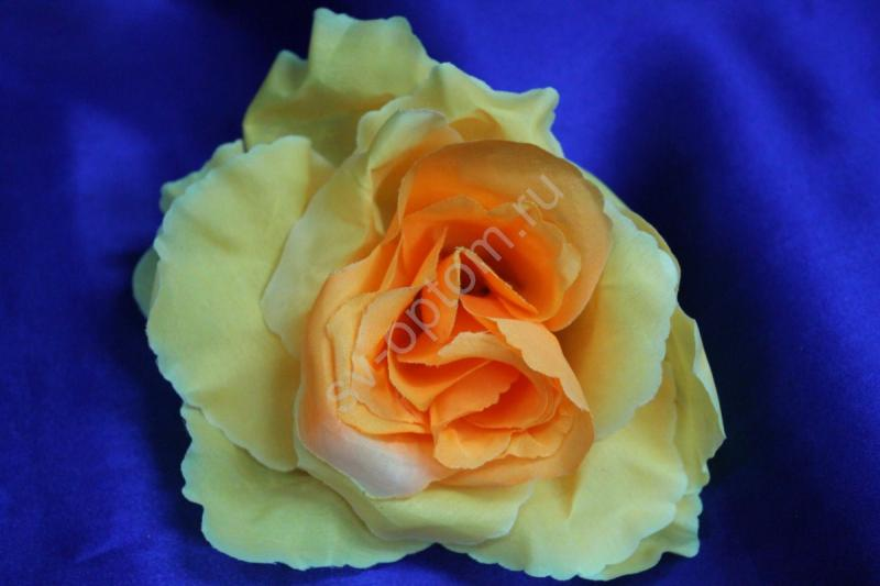 Роза желто-оранжевая (головка) Мин. заказ от 10шт! арт. 137-066