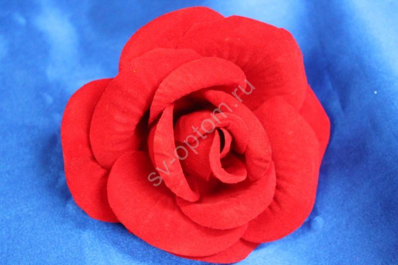 Роза красная бархатная (головка) Мин. заказ от 10шт! арт. 137-019