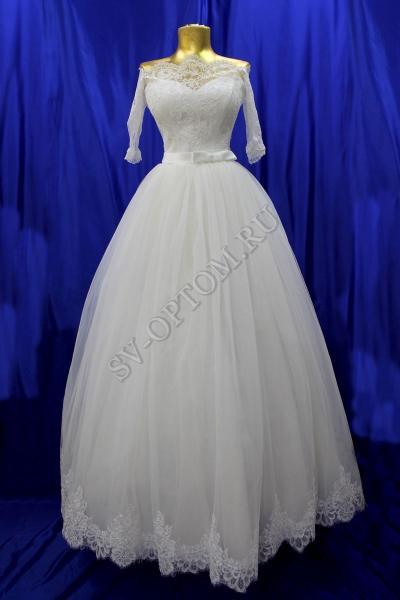 Свадебное платье Цвет: Айвори №1318 раз. 44. арт. 011-077
