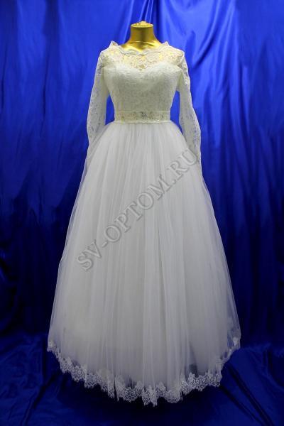 Свадебное платье Цвет: Айвори №177 раз. 52. арт.011-128