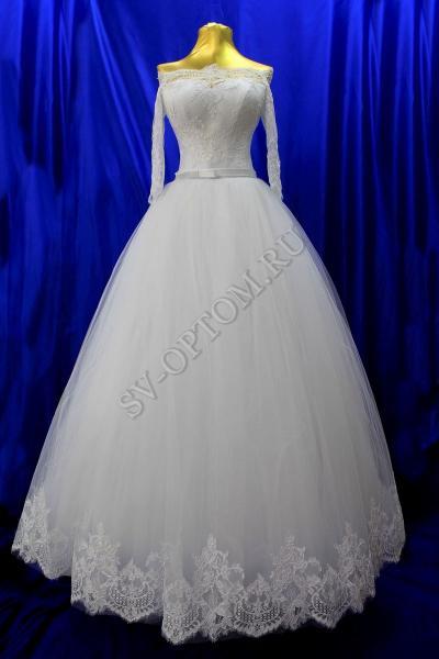 Свадебное платье Цвет: Белый раз. 42-50. арт. 011-155