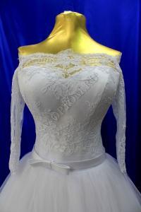 Фото  Свадебное платье Цвет: Белый раз. 42-50. арт. 011-155