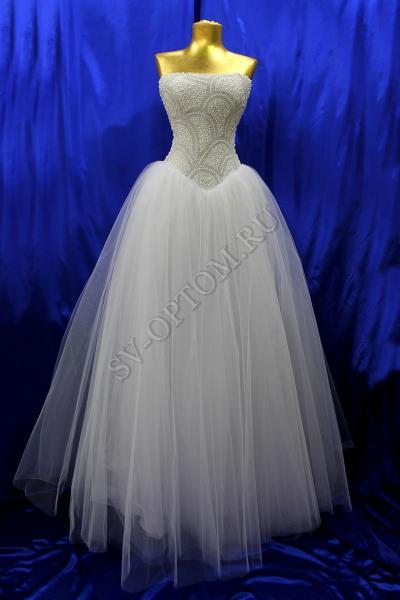Свадебное платье Цвет: Белый №1222 раз. 42, 44, 48. арт. 011-020