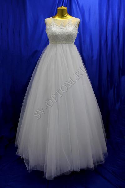 Свадебное платье Цвет: Белый №1233 раз. 44. арт. 011-089