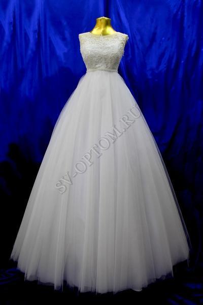 Свадебное платье Цвет: Белый №1233 раз. 44. арт.011-012