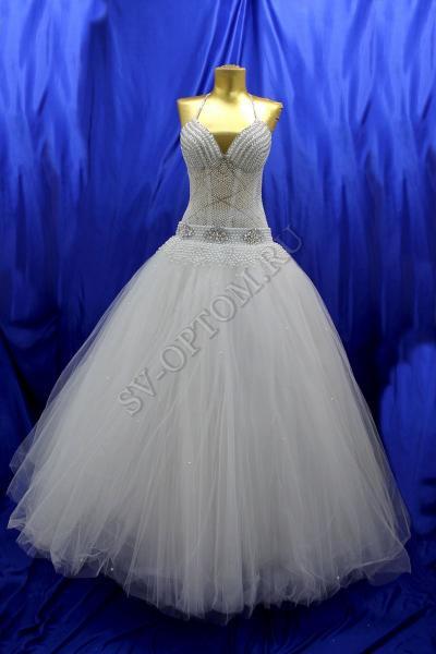 Свадебное платье Цвет: Белый №141, 192 раз. 46. арт. 011-146