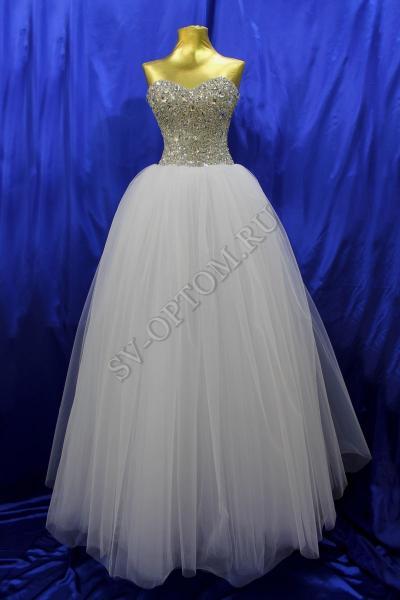 Свадебное платье Цвет: Белый, Кремовый №1249 раз. 40, 42, 44, 46. арт. 011-017