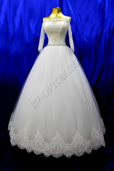 Свадебное платье Цвет: Кремовый №1273 раз. 42, 44, 50.  арт. 011-011