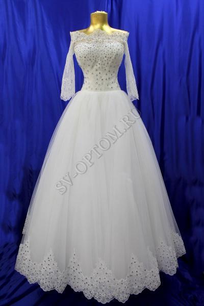 Свадебное платье Цвет: Кремовый №1281 раз. 42. арт. 011-078