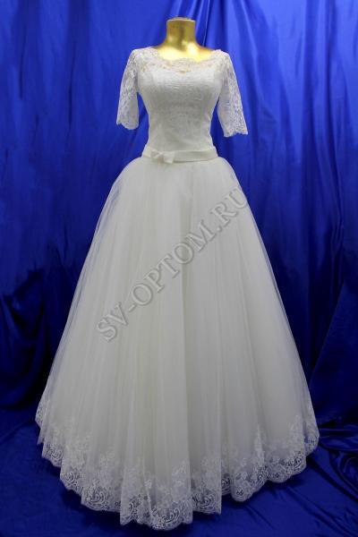 Свадебное платье Цвет: Кремовый №804 раз. 46. арт. 011-123