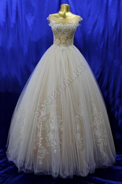Свадебное платье Цвет: Пудра №1312 раз. 42, 44. арт.011-014