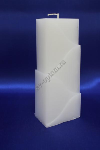 Свеча белая, Высота 18см. арт.059-004
