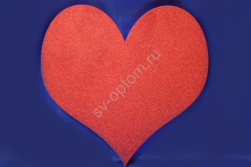 Сердце пенопласт (красный) 50*50см арт. 005-118