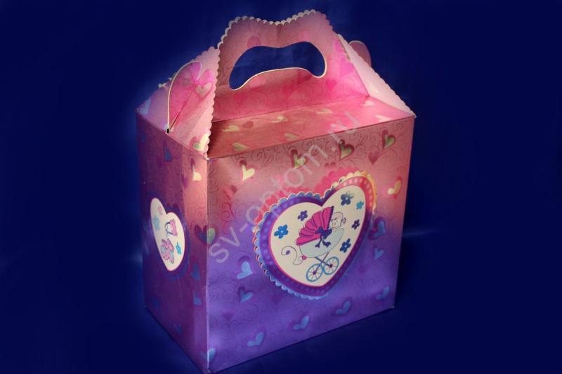 Сундучек для денег картонный розовый арт. 071-096