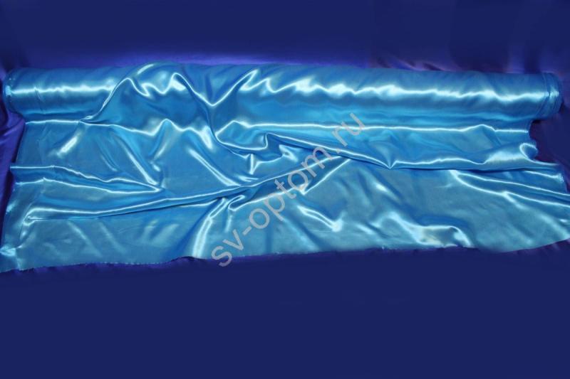 Ткань атлас бирюзовая длина 100м ширина 150см (хорошее качество!) арт. 143-008