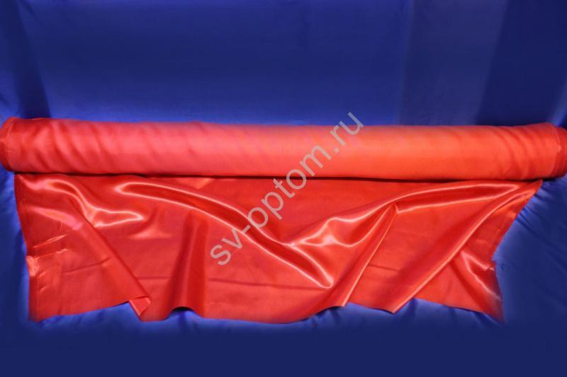 Ткань атлас красная длина 100м ширина 150см (хорошее качество!) арт. 143-006