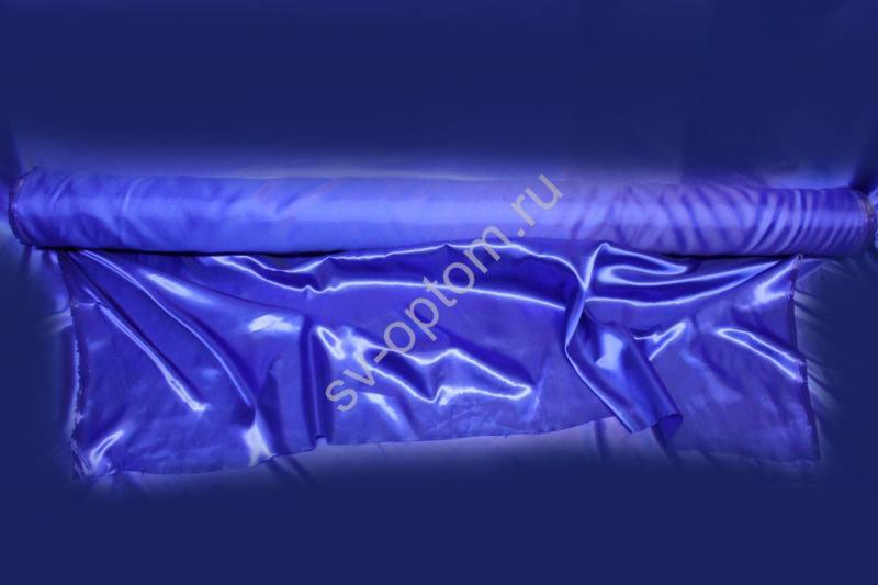 Ткань атлас синяя длина 100м ширина 150см  (хорошее качество!) арт. 143-009