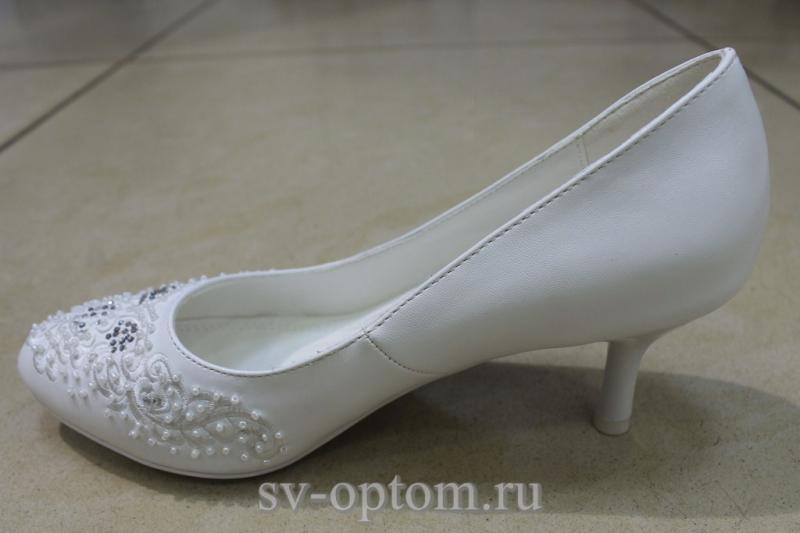 Туфли К-197 Цвет: Белый р.36-41 ВСЕ РАЗМЕРЫ