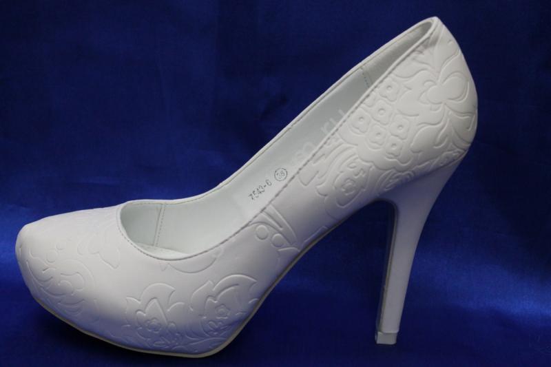 Туфли К-313 Цвет: Белый р.35-40 ВСЕ РАЗМЕРЫ
