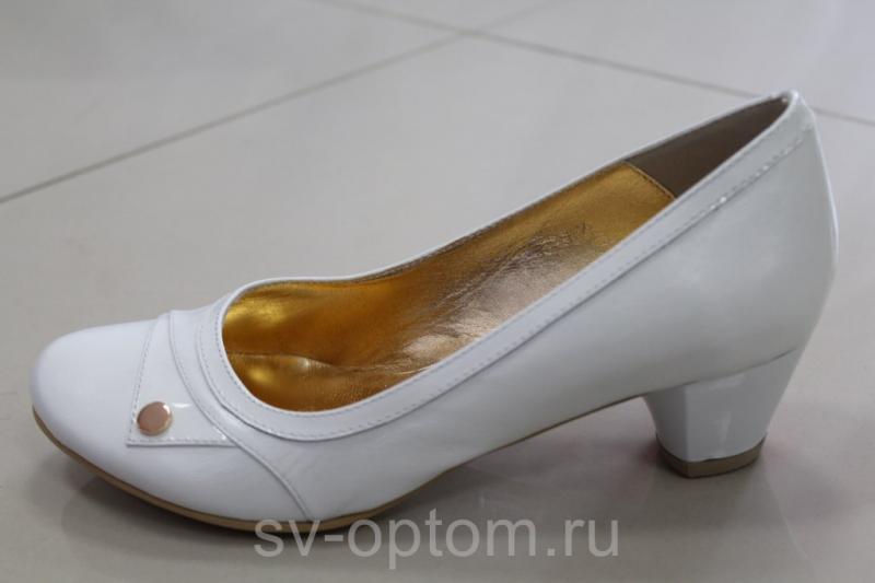 Туфли Кожаные А-10 Цвет: Белый. Размер:35-40 арт. 097