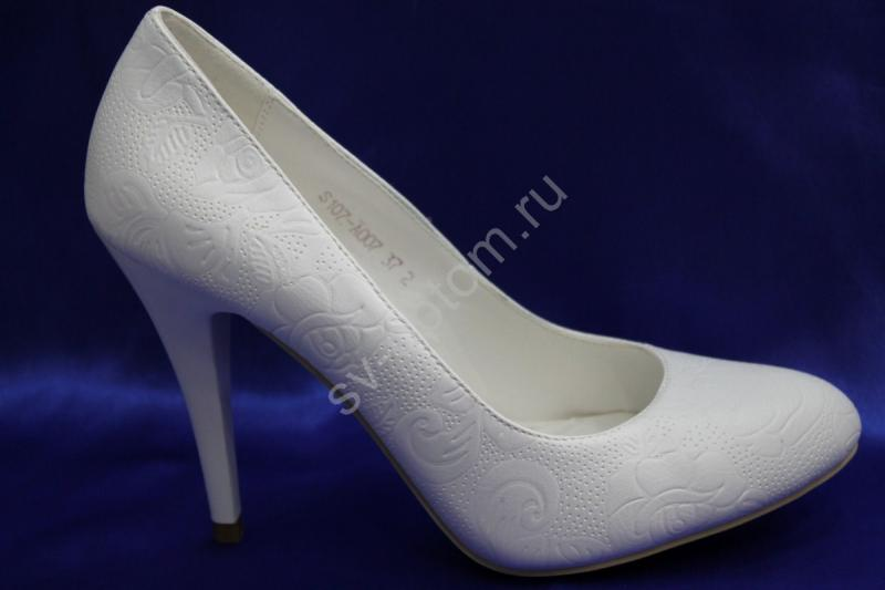 Туфли С-14 Цвет: Белый р.36-41 ВСЕ РАЗМЕРЫ